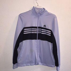 Adidas Zippered Lightweight Athletic Jacket
